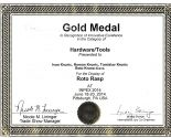 INPEX 2014 USA Gold medal in the Category of Hardwarw/Tools for Roto Rasp