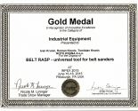 INPEX USA 2015 Gold medal in the Category of Industrial Equipment for Belt Rasp