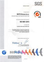 ISO 9001:2015 ROTO KRUNA D.O.O.