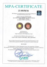 Certificate for Roto rasp d125 type A/B acc. EN 847-1:2013